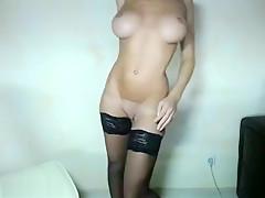 Blonde Shows Off Her Lingerie