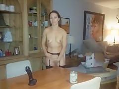 Brunette Poses In Her Lingerie