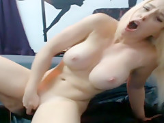Hot Blonde Is Showing Off