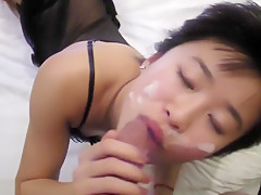 A Hot Asian Gets Cumshot