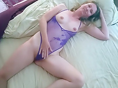 Blonde Is In Her Lingerie