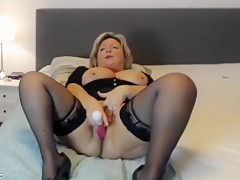 Mature Blonde Is Jacking Off