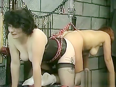 Rough spanking and harsh thraldom on woman's cunt