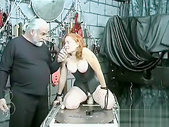 Hot female fucked and stimulated in extraordinary thraldom