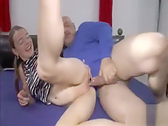 Double fisting and fucking her insatiable pussy