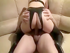 Girl in sparkly rides cock