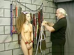 Flaming undressed spanking and amateur bondage porn