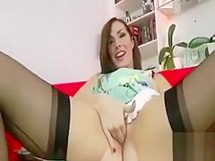 Classy stockings brit amateur