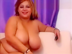 Chubby Latina BBW Strips And Dances