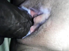 Enjoying her wet pussy  but in the end, i made it wetter.