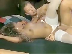 Horny stud pushes his big hard cock deep inside a hot ebony