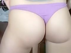 Stunning hottie does sexy strip and lapdance