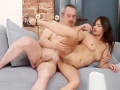 To become a pornstar she has to suck the agent's large rod