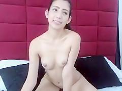 Asian cutie toys her dripping wet twat