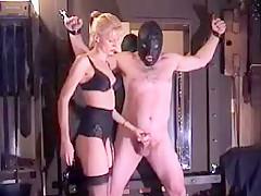 Blonde femdom cbt fetish