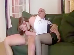 She takes no time at all to get ready for his large cock