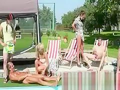 CFNM pool sluts love naked men and their hard cocks