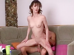 Using his thick shlong to penetrate babe's twat thrills dude
