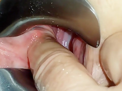 Real gf fingers and toys in pov close up