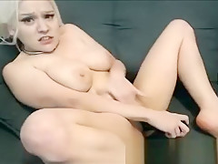 Small Blonde With Big Tits Is Really Horny Today