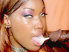 Ebony Bitch Loves To Swallow A Big Load - DaGFs