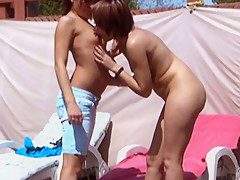 Watch These Two French Girls Fucking Under The Sun - DaGFs
