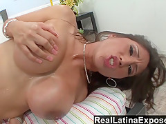 Alexis Breeze Loves To Feel Creamy Cum On Her Boobs - RealLatinaExposed