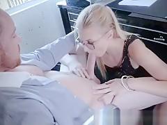 Teen Secretary Spanked and Throated!