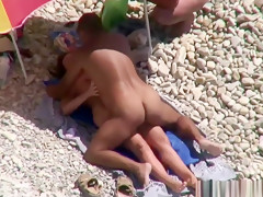 Naked wife shared on public beach