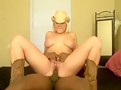 Amazing private webcam, interracial, black guy sex video