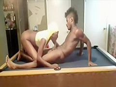 Exotic homemade bedroom, ebony, oral sex scene