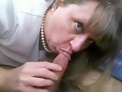 Exotic homemade oral, dark hair, blowjob porn clip