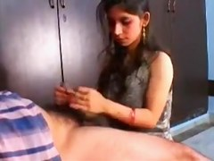 Indian Non-Professional Beauty Oral Pleasure