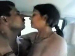 Desi beauty drilled in a car