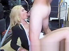 Pretty Blonde MILF Turned Out In Back Of A Pawn Shop