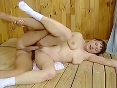 Nasty mature slut goes crazy sucking