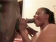 Horny busty ebony babe with enormous