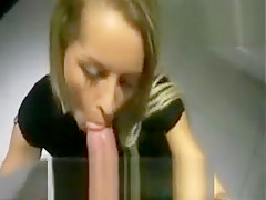 Blonde is banged in a public changeroom because she gets