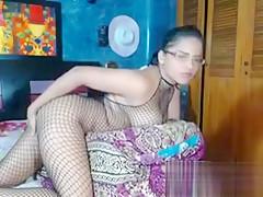 Nerdy Girl In Sexy Lingerie Masturbates
