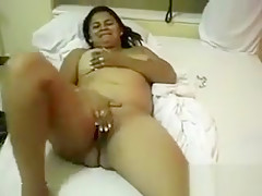 Thick Brazilian Wife Rubbing Her Pussy