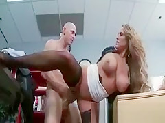 Gorgeous hot body big boobed blonde sexy
