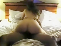 Hotwife fucks bull with condom