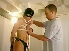 Painful boobs bondage for my sub wife