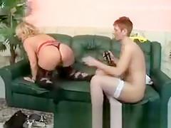 Redhead granny tongues blonde friends mature snatch