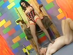 Foot teasing fetish femdom bitch