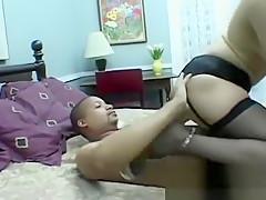 Slutty sweethearts sharing cock in female domination xxx