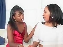 Ebony Chick Sucking Afro Big Cock