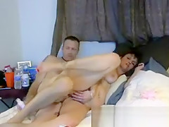 MILF engaged in anal sex with her husband on webcam