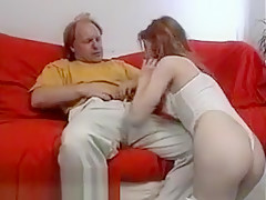 Teen Chick Sucking Old Cock