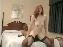 Amateur redhead interracial fucking